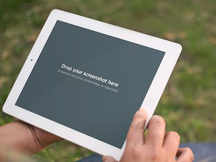 Instant mockups for your apps! White iPad in park. Try it out here: https://placeit.net/stages/white-ipad-retina-display-grass Follow us for a chance to snag a free subscription coupon!