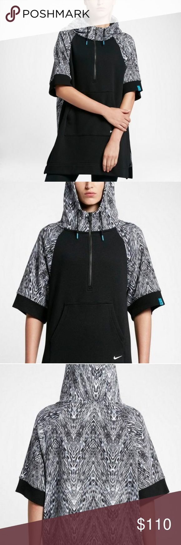 """NWT Women's Nike N7 Poncho Hoodie Size Medium NWT Women's Nike N7 Poncho Hoodie Size Medium   Measurements:  Bust:  Up to 24"""" Flat across (dolman style top, designed to fit loose) Length:  34"""" long. Nike Sweaters Shrugs & Ponchos"""