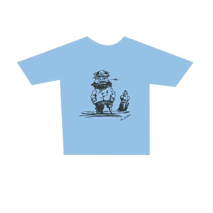 Childrens Master Mariner T-Shirt, skyblue. Buy form Holvi webstore. #t-shirt #mariner #captain #sea #seagul #mastermariner