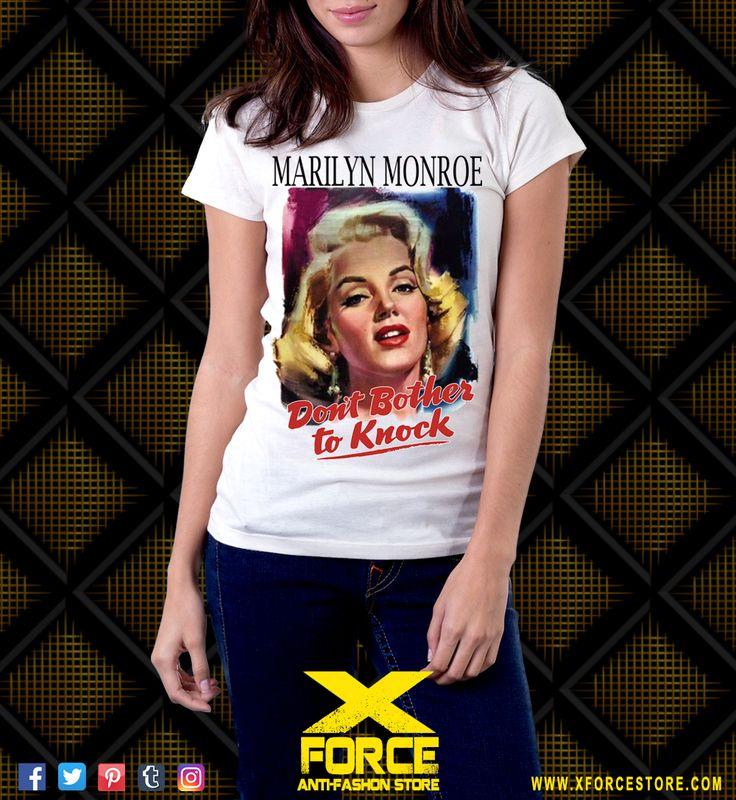 Camiseta Marilyn Monroe Almas Desperadas Nunca Fui Santa