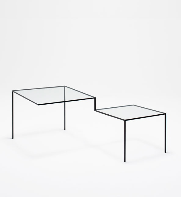 """Nendo (Oki Sato + Akihiro Ito), chair and table """"Thin Black Lines"""", with the structure defined by a simple dark line. The Japanese design practice, founded in Tokyo 10 years ago, recently won the Wallpaper magazine """"designer of the year"""" award"""