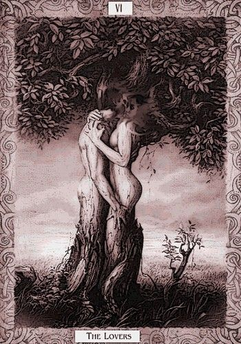 "I need a reading NOW! ""The Lovers"" tarot card -- I've always wanted a tat of this"