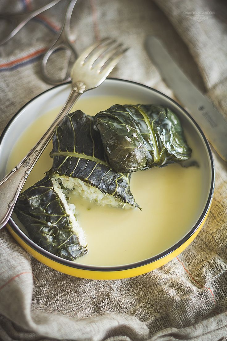 Cod stuffed horseradish leaves