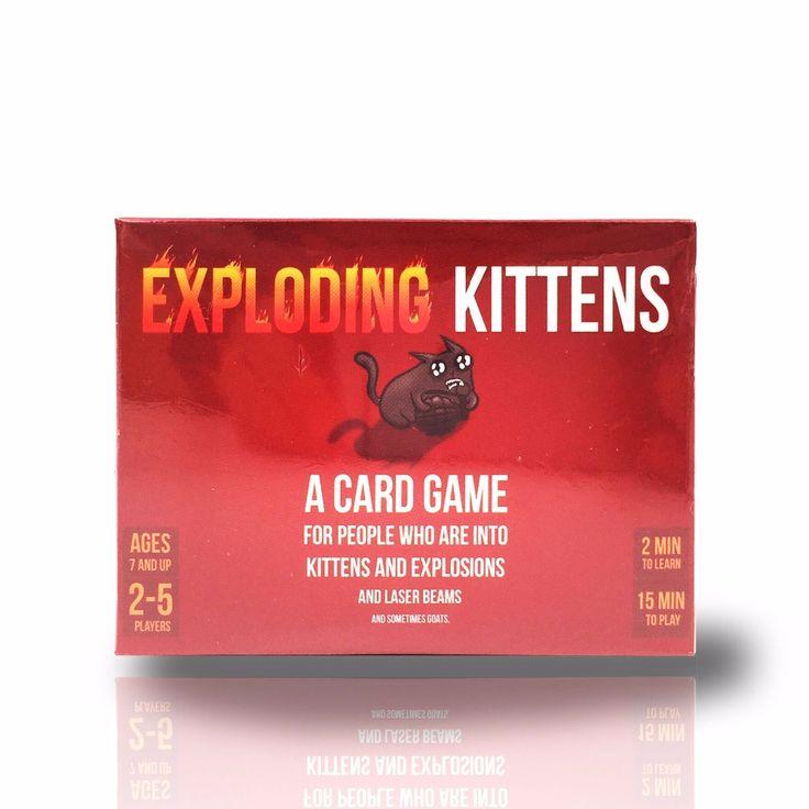 Meledak bermain kartu kartu permainan Meledak peledak anak kucing anak kucing asli NSFW gratis untuk partai fun papan permainan