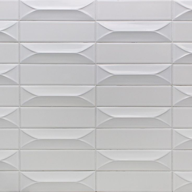 Byzantine 3D Bianco Ceramic White Subway Tile  Subway tile, Ceramic subway tile, Backsplash