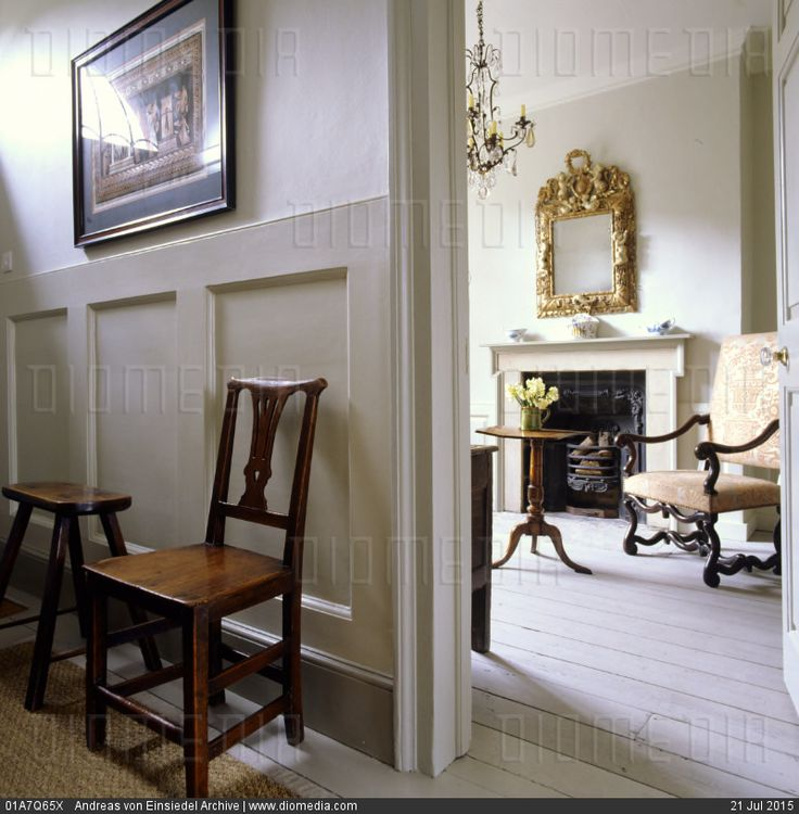 Mid 18th century georgian house furnished with 17th and for 18th century window treatments