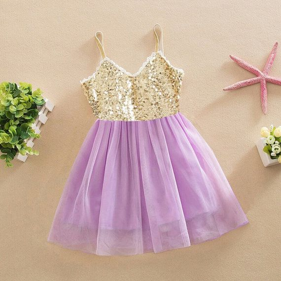 purple and gold girls sequin dress toddler by AlessandrasLittleBow