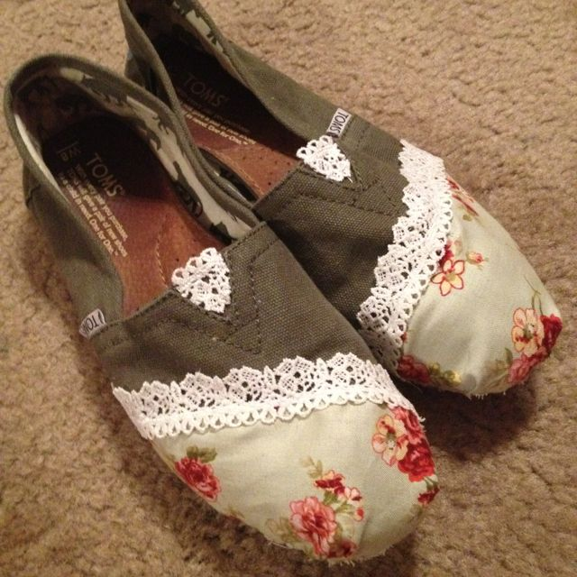 Decorated Toms to hide the worn out hole!! I have two that are really worn out so this would be awesome!