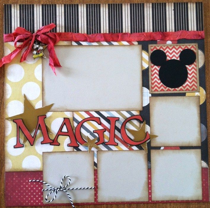 disney scrapbooking pages ideas | IMG 7450 Disney Scrapbook Page Layout to Share with You