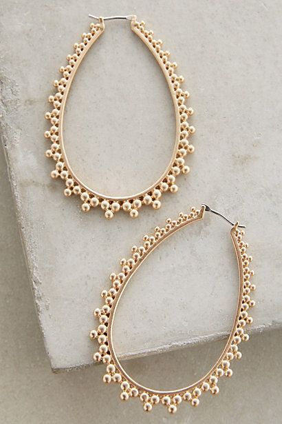 Stippled Hoops #anthropologie