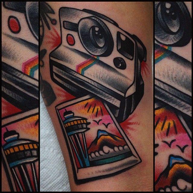 kingfantastic:  Polaroid of Seattle for Kae! Thank you!  (at Heart And Soul Tattoo)