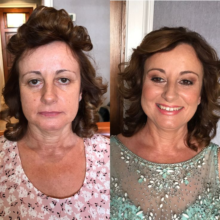 Antes y después .maquillaje piel madura