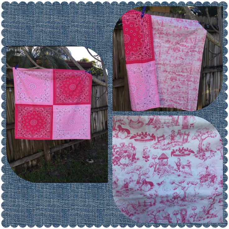 Pretty In Pink Bandana Blanket Features The Sweetest Toile Nursery Rhyme Fabric Perfect Shower Gift