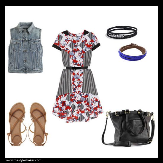 Styling Tutorial #7: 1 Peter Pilotto for Target Dress ($45), 6 Ways to Wear It. Shop & Shaker. Look #2