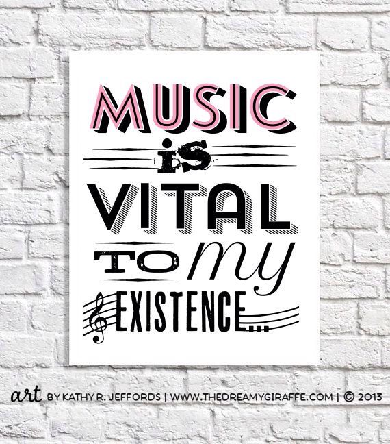 Music Art Print Gift For Musician Music Lover Music Teacher Typography Quote Teen Girl Wall Decor College Dorm Room Poster Apartment Sign by thedreamygiraffe on Etsy https://www.etsy.com/listing/210138749/music-art-print-gift-for-musician-music