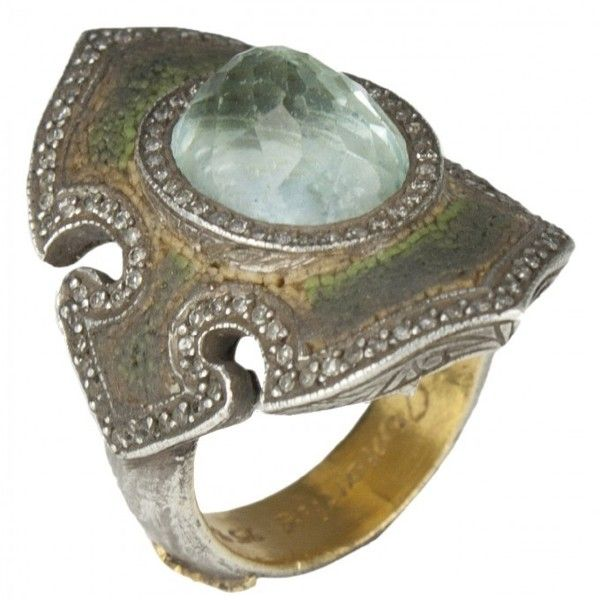 Sevan Bicakci Eye Of Wisdom Ring with Blue Topaz (Blue Topaz)... ($10,790) ❤ liked on Polyvore - Gorgeous Setting
