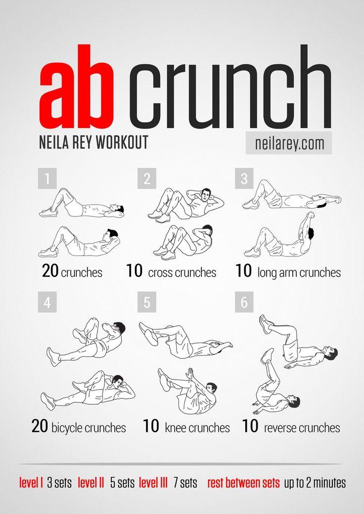 Neila Rey Ab Crunch Workout Workouts Pinterest Abs