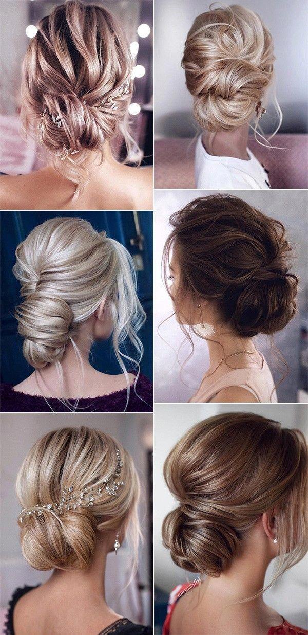 Hochsteckfrisuren Hochzeit Frisuren low bun für 2019 Trends #weddingupdosforlonghair