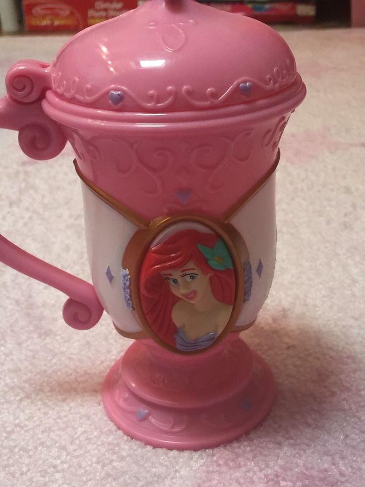 Disney on Ice Frozen Princess Ariel Mug with Flip Top Plastic Lid Cup pink  | eBay