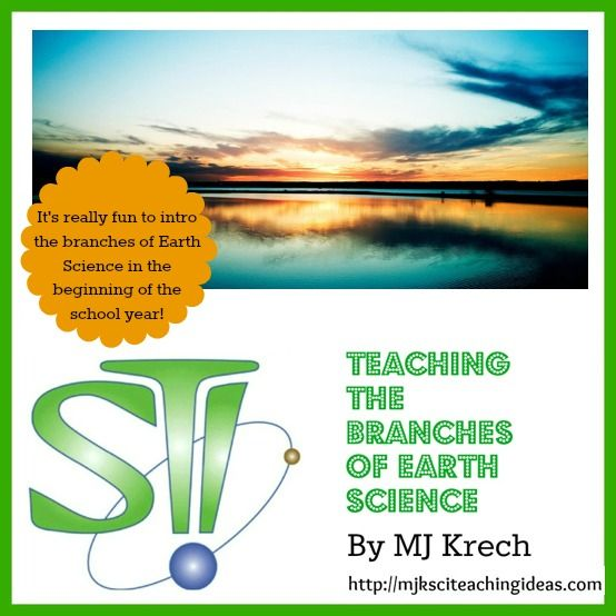 teaching the branches of earth science by mj krech. Black Bedroom Furniture Sets. Home Design Ideas