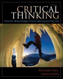 critical thinking tools for taking charge of your learning and your life Get this from a library critical thinking : tools for taking charge of your learning and your life [richard paul linda elder] -- for student success and career.
