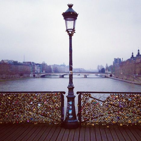 Fence of locks in Paris France