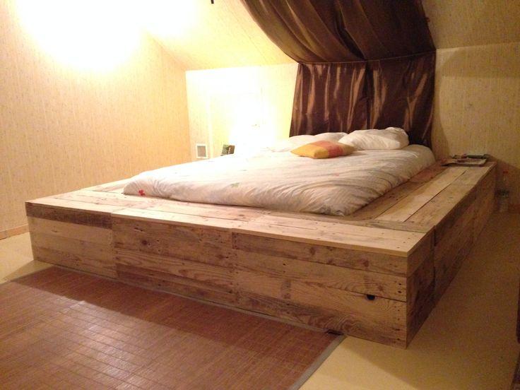 lit plateforme my house pinterest. Black Bedroom Furniture Sets. Home Design Ideas