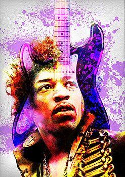 Nostalgic Art - Jimi Hendrix Portrait