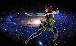 Human Statue Bodyart: Guardians of The Galaxy Bodypaint