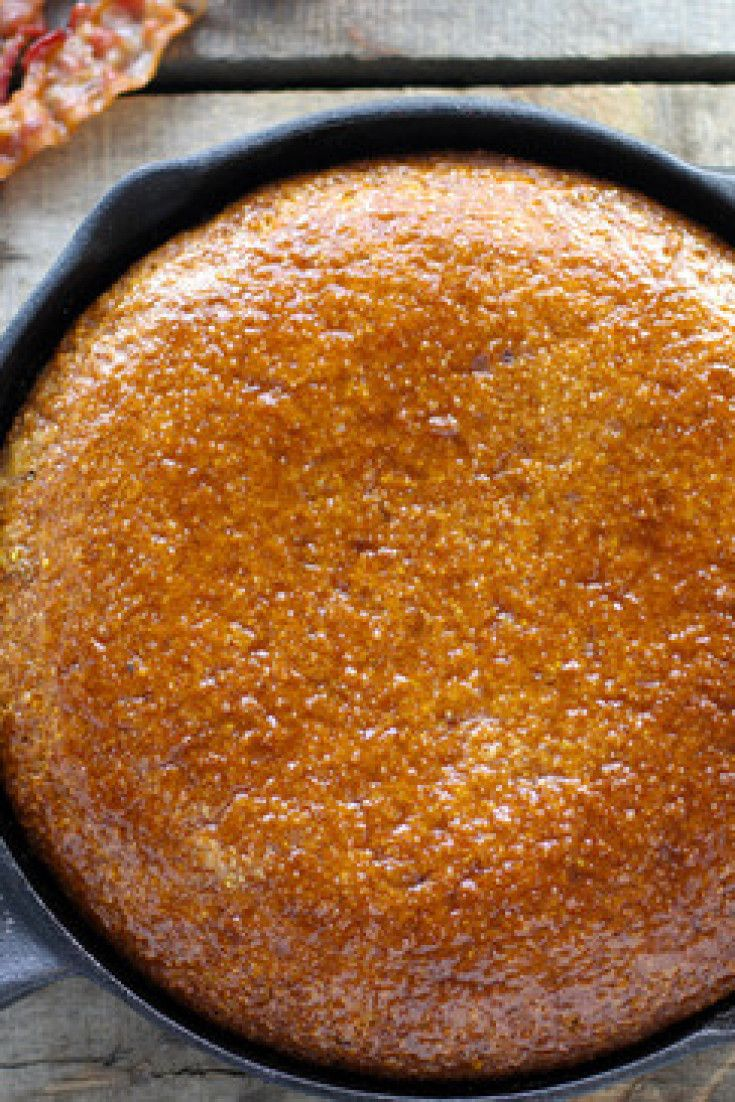 Crazy Good Maple Bacon Skillet Cornbread