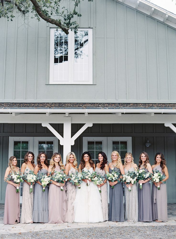 Photography: Lauren Peele   www.laurenpeelephotography.com Wedding Dress: Hayley Paige    www.jlmcouture.com/Hayley-Paige Bridesmaids' Dresses: Stardust Celebrations   stardustcelebrations.com Groom's Attire: Vera Wang   www.verawang.com/   View more: http://stylemepretty.com/vault/gallery/35844
