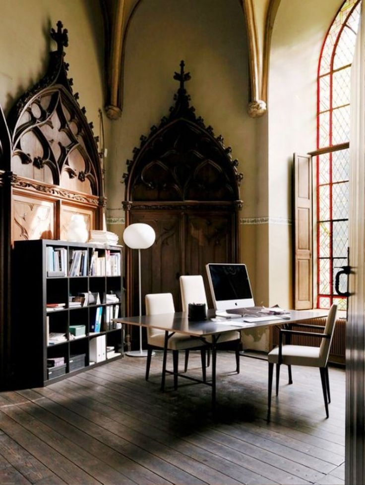 Gothic Home Office And Library Ideas   Real House Design