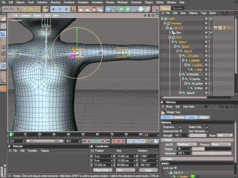 Cinema 4D Rigging 03 - Creating an IK Chain and Controls - YouTube