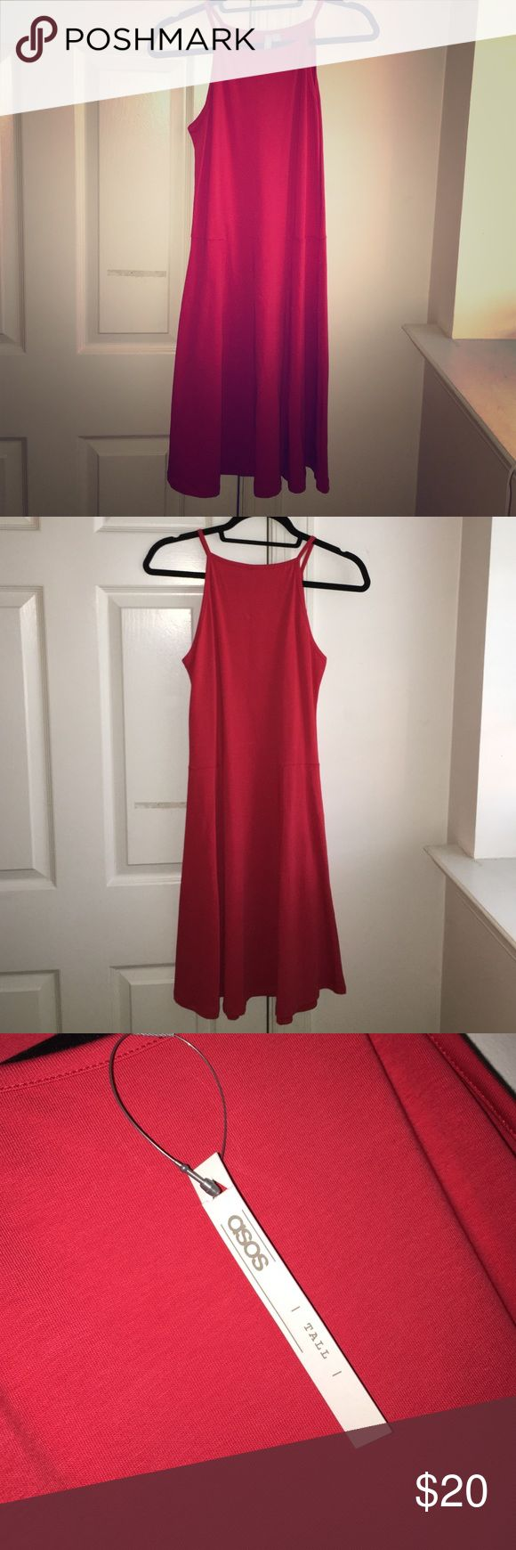 ASOS red dress Never worn red dress. Tall size. Dresses Midi