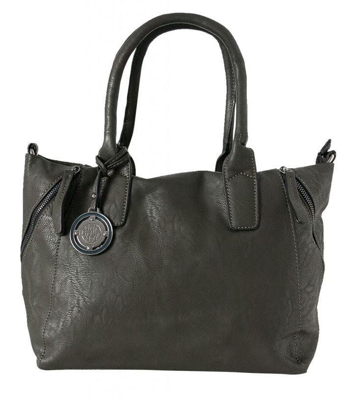 Dámská kabelka Marina Galanti, ozdobné zipy - zelená/olivová barva   obujsi.cz - dámská, pánská, dětská obuv a boty online, kabelky, módní doplňky