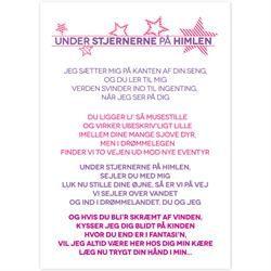 Plakat - Under stjernerne - Pigefarver