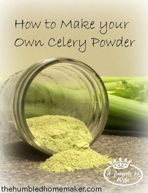 How to Make Your Own Celery Powder - TheHumbledHomemaker.com