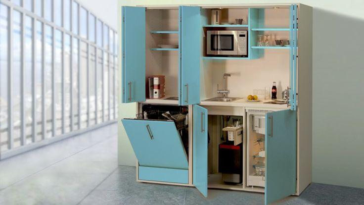Schrankküche pro-art designLINE hellblau-weiß Schrankküchen - dassbach k chen erfahrungen