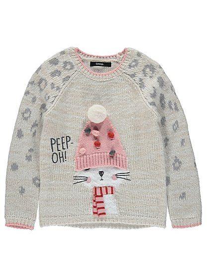 Cat Bobble Jumper, read reviews and buy online at George at ASDA. Shop from our latest range in Kids. Add some fun to their little wardrobe with this sweet k...