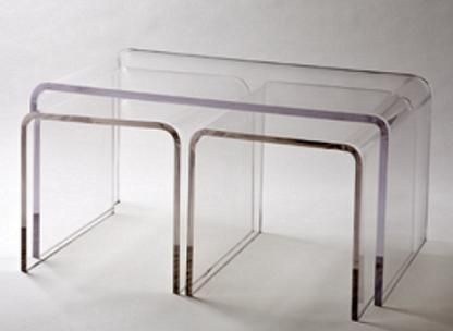 The Hardy Acrylic Nesting Coffee Tables as seen in the #WestVillage Etobicoke #ModelSuite
