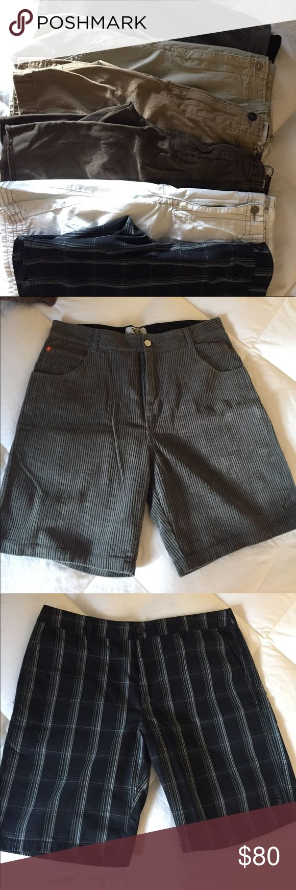 Bundle of 6 Men's Shorts Bundle of men's shorts, all size 36, various brands. Toes on the nose, Valor, J. Crew, American Eagle, Aeropostale, and Buckle. All in EUC! Shorts Cargo