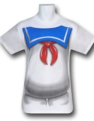 Ghostbusters Stay Puft Marshmallow Man Costume T-Shirt for pregnant belly