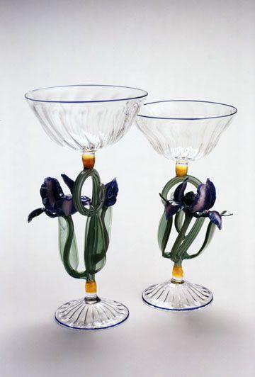 Janis Miltonberger Iris Goblets