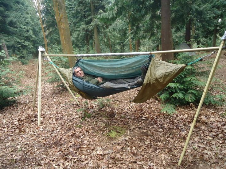 17 best images about outdoor on pinterest portable for Rope hammock plans