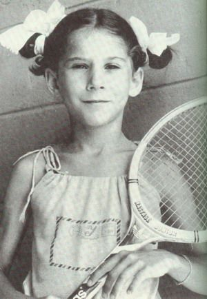 Monica Seles's father taught her how to play tennis in a parking lot when she was 5 years old.  She turned pro at age 16.
