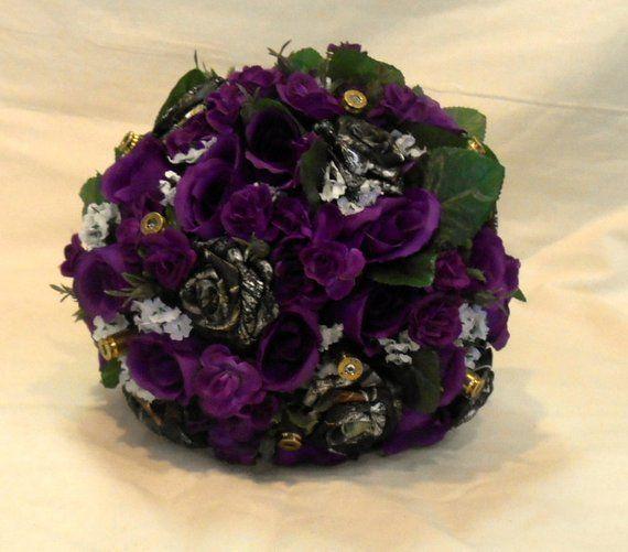 Purple Mossy Oak Camo Bullet Bouquet Camo Wedding Purple