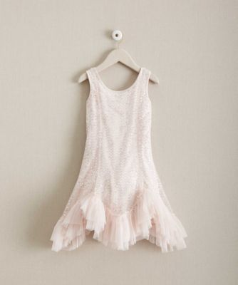 Girls Pale Pink Shimmer Dress - Here's a way to shimmer and shine, and look sweet at the same time.