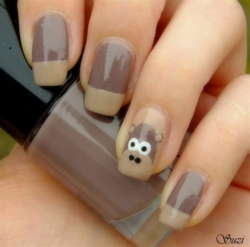 Monkey Nails by BeautyBySuzi - Nail Art Gallery nailartgallery.nailsmag.com by Nails Magazine www.nailsmag.com #nailart