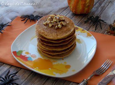 Veglife Channel : Pancakes alla zucca (vegan + senza glutine)
