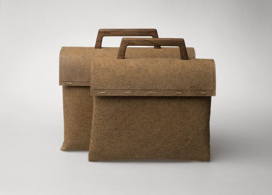 Fully biodegradable bag that is made out of biobased materials.Bag is made by studio  reWrap